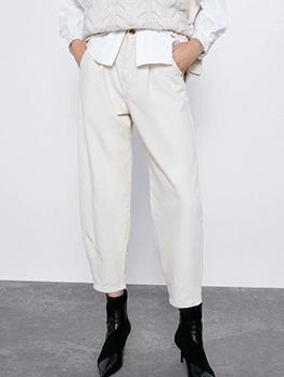 White Harem High Waisted Jeans