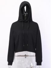 Cool Back Printed Black Hoodie