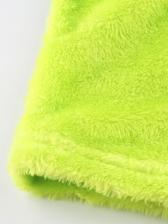 Solid Fleece Cropped Halter Tank Top