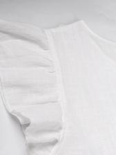 Crew Neck Pure Color Short Sleeve Dress