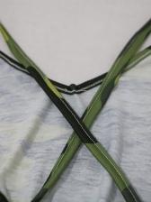 Backless Irregular Hem Print Green Sleeveless Maxi Dress