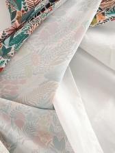 Floral Ethnic Style Bow Irregular Midi Skirt