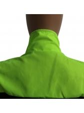 Turndown Collar Contrast Color Zipper Up Jumpsuit