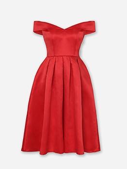 SweetheartNeckline Off Shoulder Party Dresses