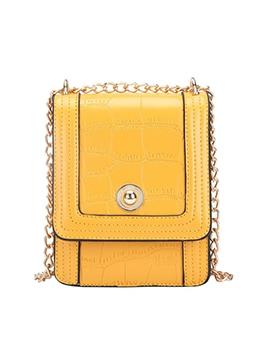 Alligator Print Chain Patchwork Belt Small Shoulder Bag