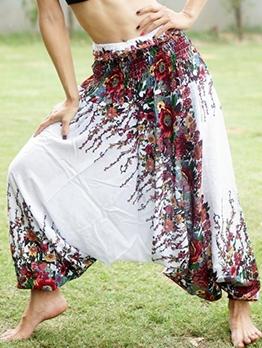 High Waist Printed Loose Harem Pants