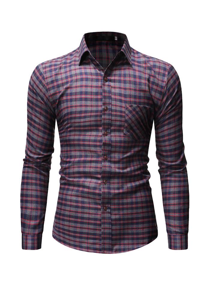 Stylish Plaid Slim Fit Shirts For Men