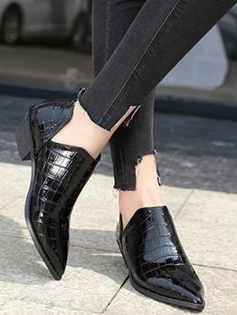 Black Embossed Side V Cut Chelsea Boots
