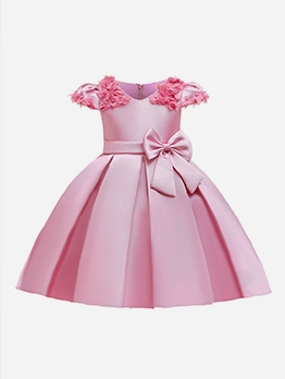 Cute Cap Sleeve Flower Girl Dresses