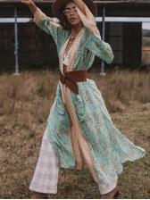 Bohemia Style Long Sleeve Loose Cardigan For Women