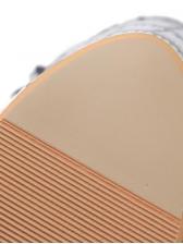Plaid Hologram T Strap Platform Sandals