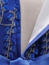 Embroidery Sleeveless Flower Girl Dresses