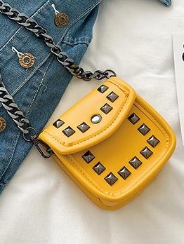 Rivets Decorated Chain Mini Shoulder Bags