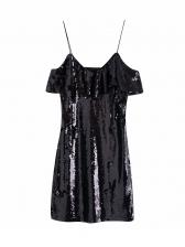 Sexy Slip Mini v Neck Sequin Dress