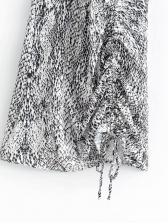 Summer V Neck Snake Print Sleeveless Mini Dress