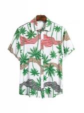 Summer Short Sleeve Print Hawaii Shirt For Men