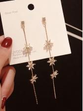 Simple Design Flower Long Earrings