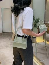 Minimalist Style Pure Color Crossbody Handbags