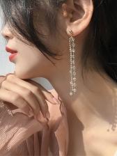 Elegant Crystal Tassel Earrings For Women