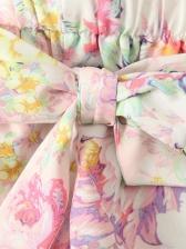 Chic Romper Printed Pants Baby Girl Sets