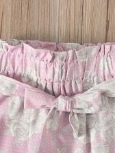 Solid Top Printed Pants Newborn Baby Set