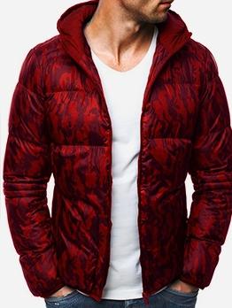 Fashion Camouflage Print Long Sleeve Men Outerwear