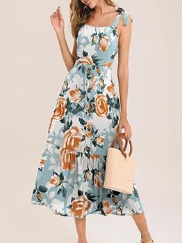 Stylish Slip Women Sleeveless Midi Dress