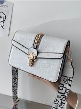 Stone Grain Printed Wide Belt Ladies Shoulder Bags