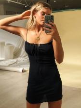 Night Club Solid Slip Mini Sundress