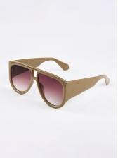 Retro Gradient Color Lenses Unisex Cheap Sunglasses
