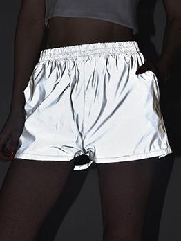 Elastic Waist Reflective Short Pants