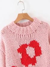 Flower Pattern Sweaters For Women