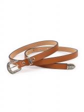 Vintage Carving Buckle Women Waist Belt