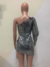 Euro Asymmetric Party Sequin Cocktail Dresses