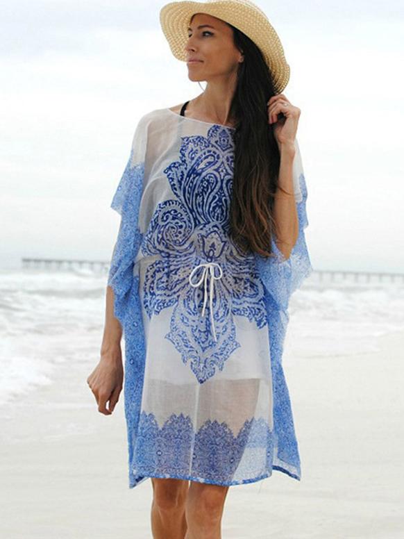 Loose Printed Short Sleeve Summer Dresses