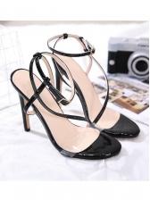 Fashion Transparent Belt Ankle Strap Sandals