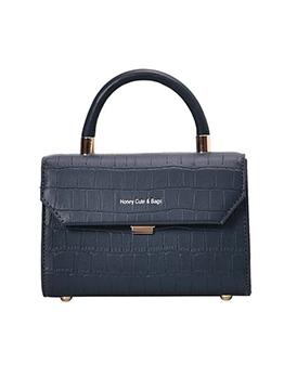 Alligator Print Wide Belt Shoulder Bags With Handle