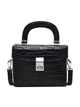 Spin Lock Alligator Print Square Shoulder Bag