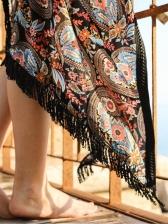 Bohemian Tribal Print Long Ladies Coats