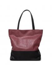 Versatile Contrast Color Women Large Tote Bags