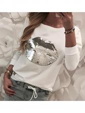 Gary Sequin Long Sleeve T-Shirt For Women
