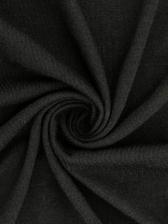 Cross Belt Backless Black Long Sleeve Crop T-Shirt