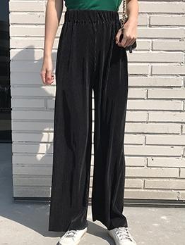 Black Wide Leg Corduroy Pants