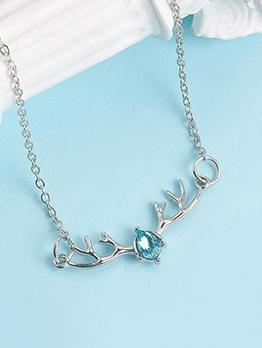 Elk Antlers Silvery Chain Bracelet For Women