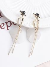 Alloy Material Petals Long Earrings For Women