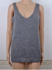 Hot Sale Solid Knit V Neck Tank Top