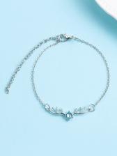 Elk Antlers Silver Chain Bracelet For Women