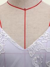 Sexy Backless Gauze Embroidery Sleeveless Mini Dress