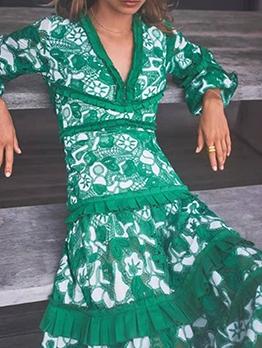 Boutique StringySelvedge Long Sleeve Midi Dress