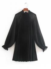 RaglanSleeve Tulle Patchwork Frill Ladies Dress